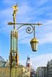 Antique lantern on Panteleymonovskiy Bridge. St.-Petersburg, Rus