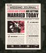 Newspaper Wedding Invitation Design Template - 63880099