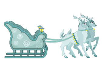 Reindeer and Sleigh