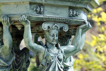 Fontaine Wallace du Jardin des Plantes de Nantes (détail)