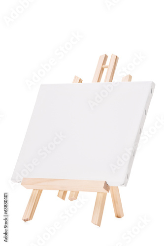 Studio shot of a blank canvas on an easel