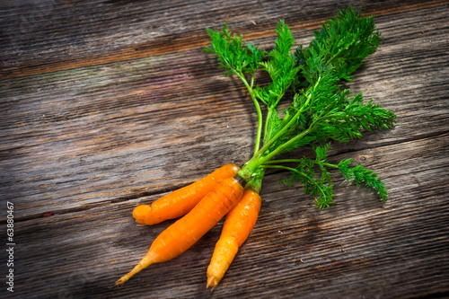 Homemade organic carrots