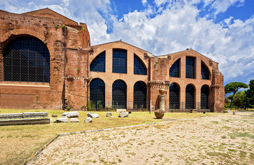 The baths of Diocletian (Termae  Diocletiani) Rome. Italy.