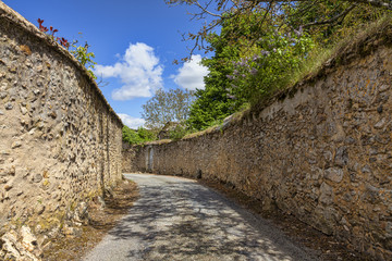 Road Between StoneWalls