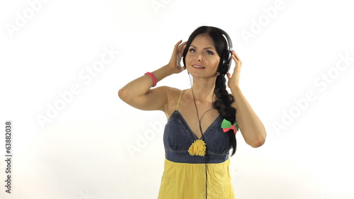 Sexy young girl with headphones