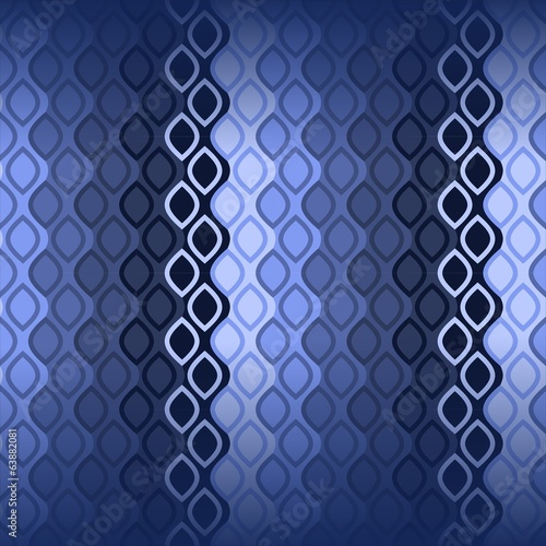 70s Blue waves pattern wallpaper seamless textile printing