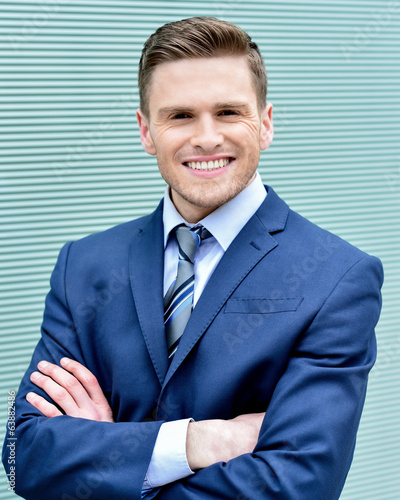 Businessman posing confidently