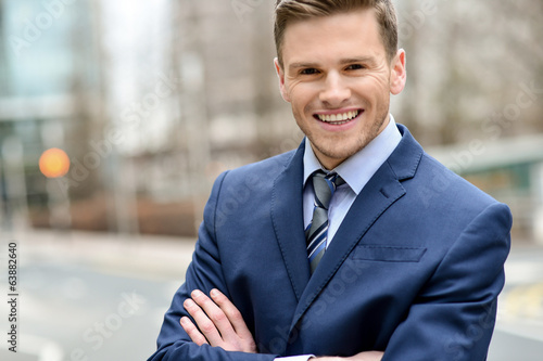 Confident young business executive