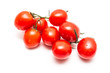 Bunch Of Fresh Wet Red Tomato Isolated On White