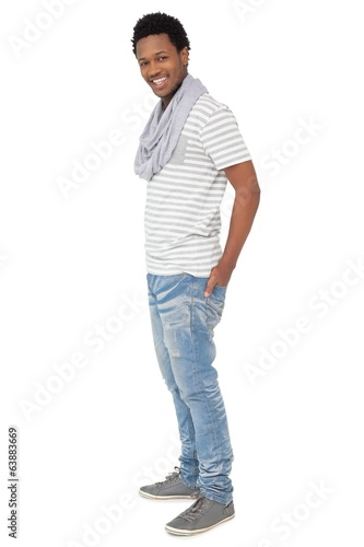 Full length portrait of a trendy young man