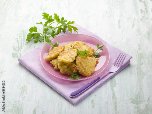rice croquette with parsley