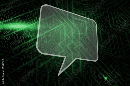 Composite image of speech bubble