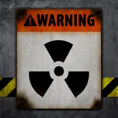 Warnschild, Alt, Grunge, Nuclear Fallout