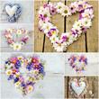 Liebe Grüße: Collage aus Blüten-Herzen :)