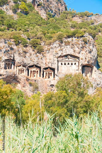 Lycian tombs in Turkey