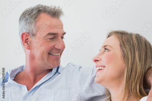 Close-up of a happy relaxed couple