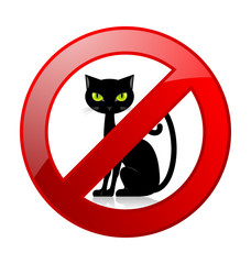 No cats allowed permission sign