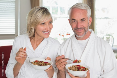 Portrait of a mature couple having breakfast