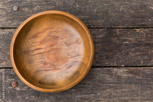 Old wooden bowl