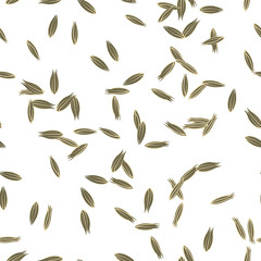 Cumin Seeds Seamless Pattern