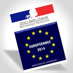 Carte electeur européenne 2014
