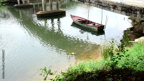 Boat in Chanthaburi river Thailand