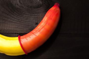 Banana & condom