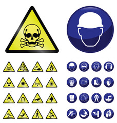 health and safety and hazard warning sign