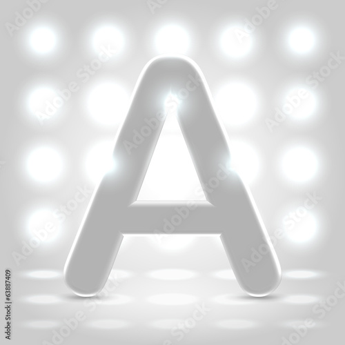 A over lighted background