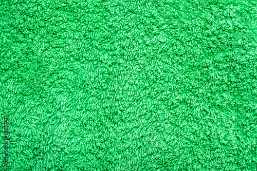 Green Cotton Bath Towel Texture Closeup