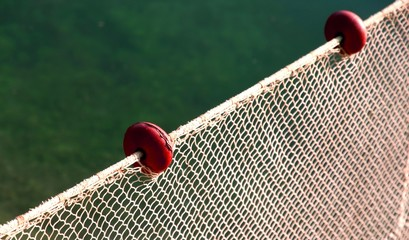 net intact without fish but