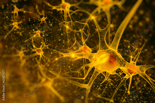 Fototapeta digital illustration neurons