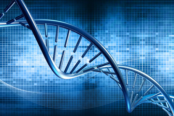 digital illustration dna background