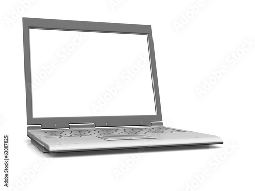 professional Laptop isolated on white background