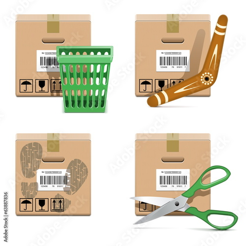 Vector Shipment Icons Set 33