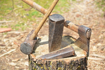 herramientas para cortar madera