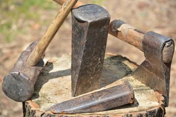 herramientas para trocear madera