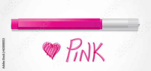 Pink Vector Colored Marker