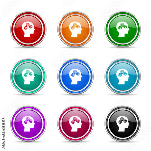 head icon vector set