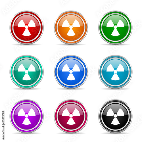 radiation icon vector set
