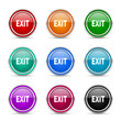 exit icon vector set