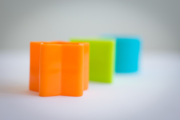 Color cube towers