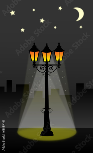 streetlight lantern street vector illustration