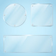 Collection of transparent glass frames - 63889842