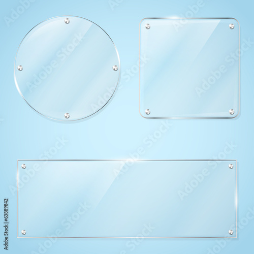 Collection of transparent glass frames