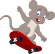 Cute mouse skating