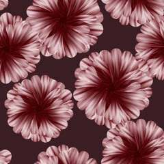 pattern with dahlias.
