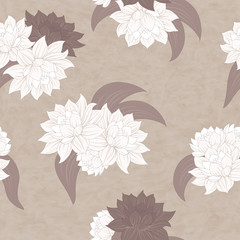 vector seamless flowers pattern
