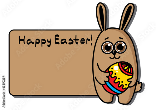 Easter egg Greeting Card - Illustration