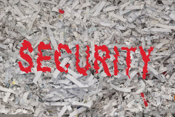 Shredded confidential information for security